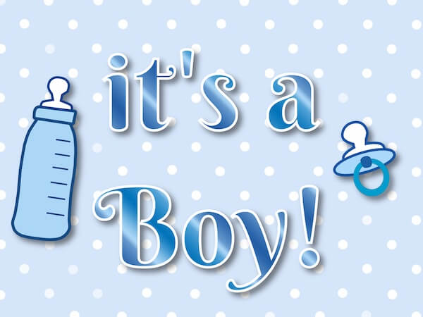 Its a Boy Magic Reveal Card