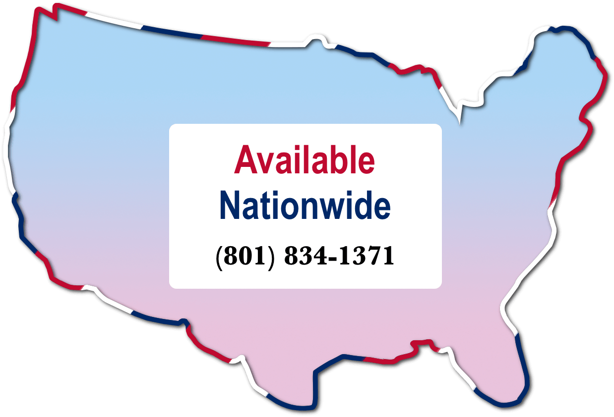 Map of USA with Available Nationwide text